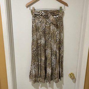 NWT Faithfull the Brand Leopard Skirt w/Belt sz S
